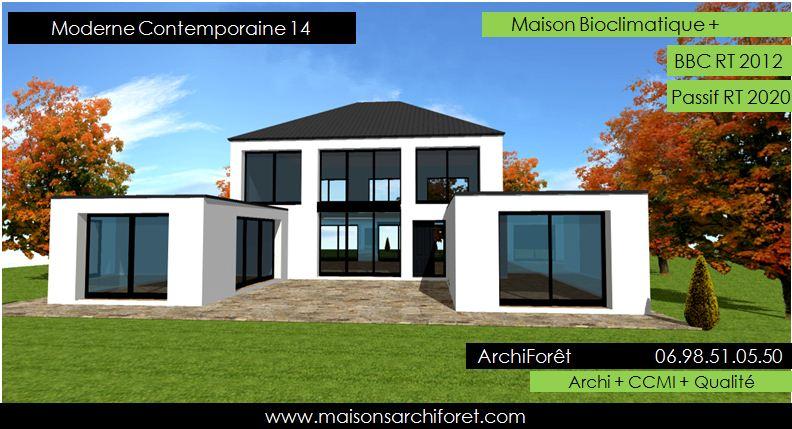 maison moderne toit 1 pente