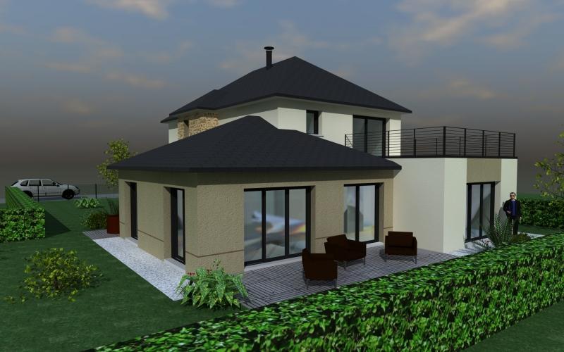 maison moderne toit 4 pans