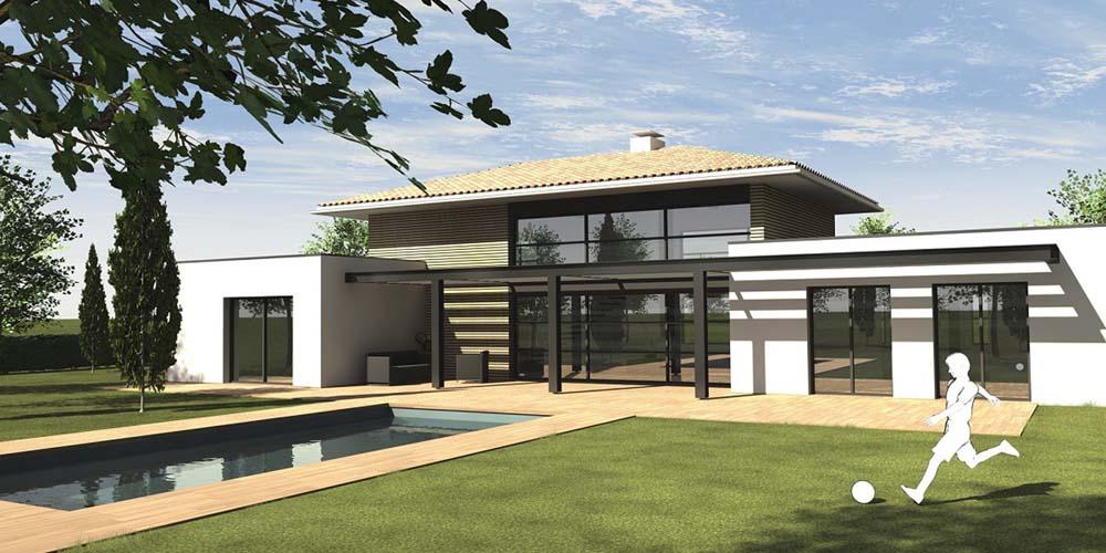 maison moderne toit pente