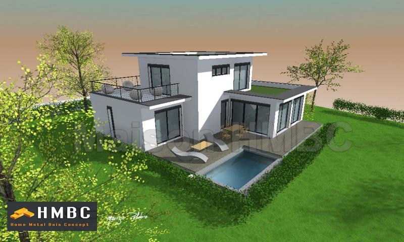 maison moderne toit plat etage