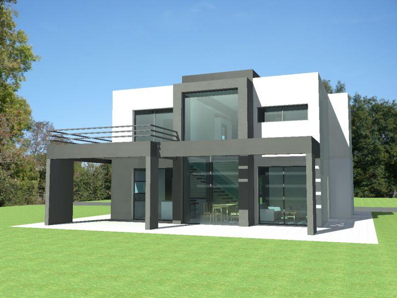 maison moderne toit plat