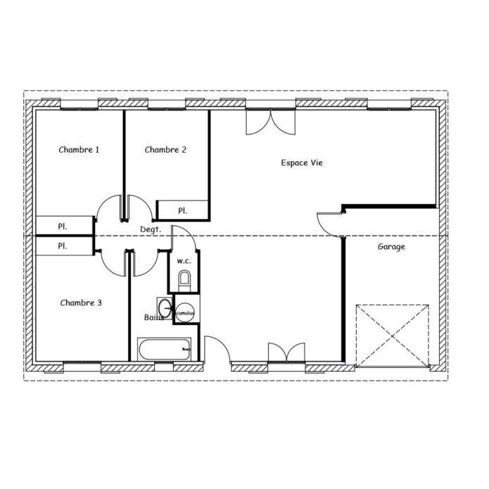 maison plain pied 100m2
