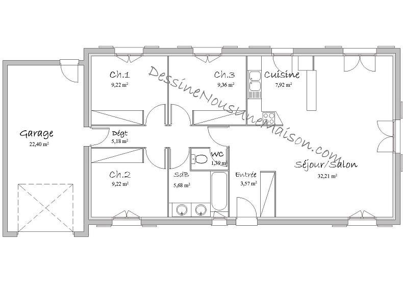 maison plain pied 22