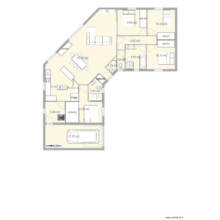 maison plain pied 3 chambres 1 bureau