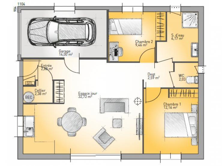 maison plain pied 70m2
