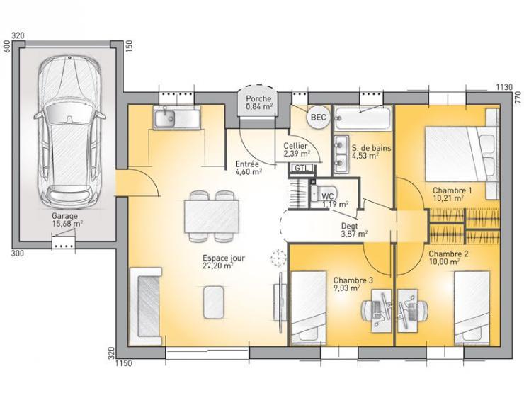 maison plain pied 73
