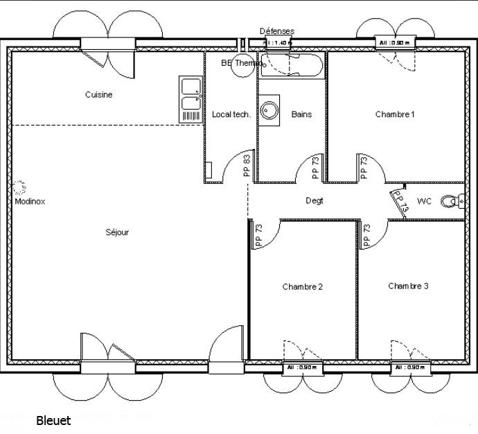 maison plain pied 80 m