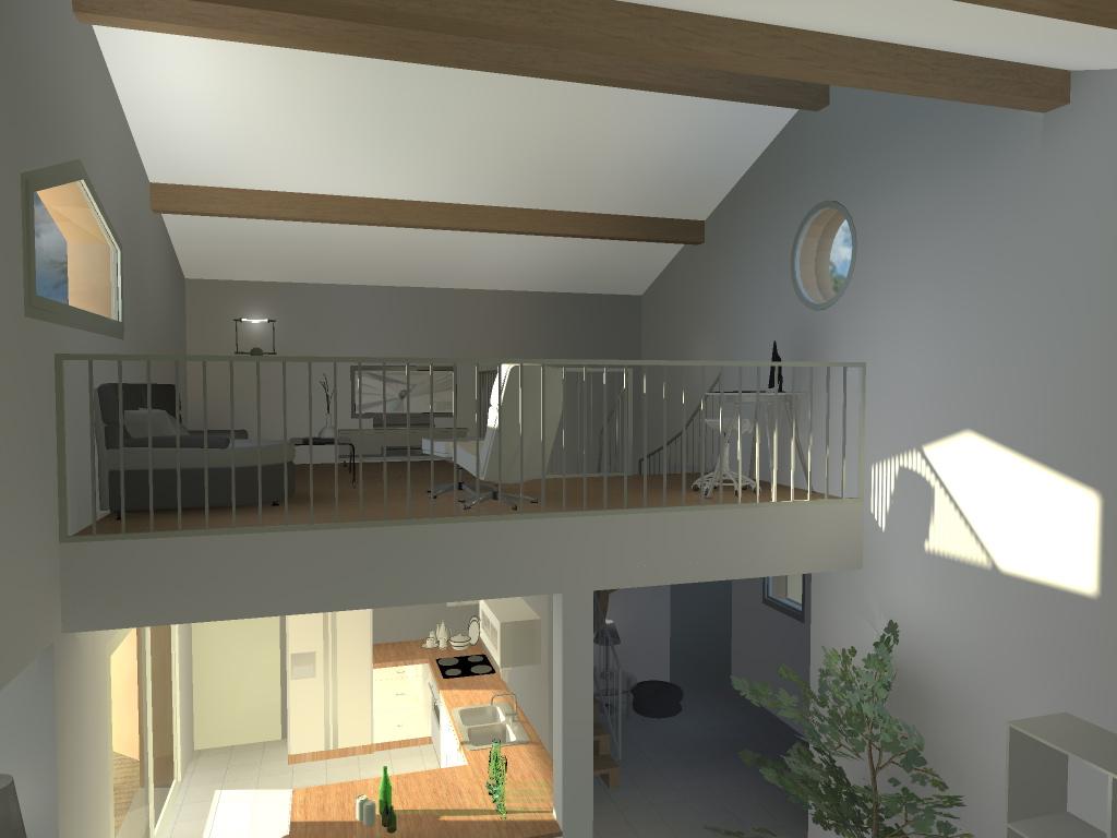 maison plain pied avec mezzanine