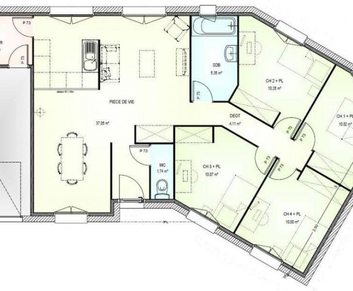 maison plain pied en v 4 chambres