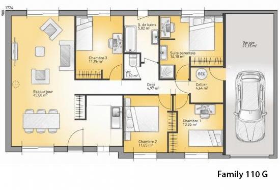 maison plain pied france confort