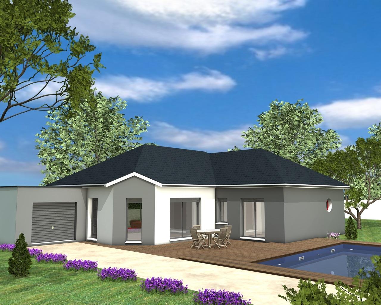 maison plain pied garage toit plat