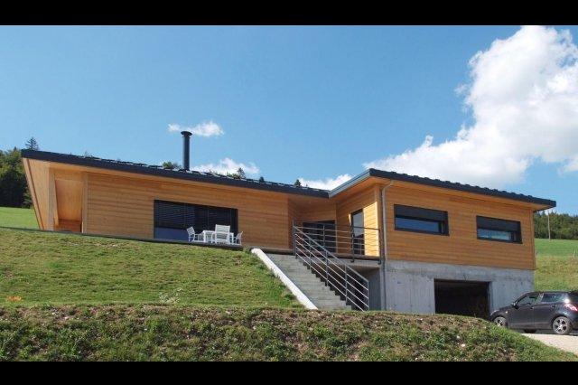 maison plain pied ossature bois