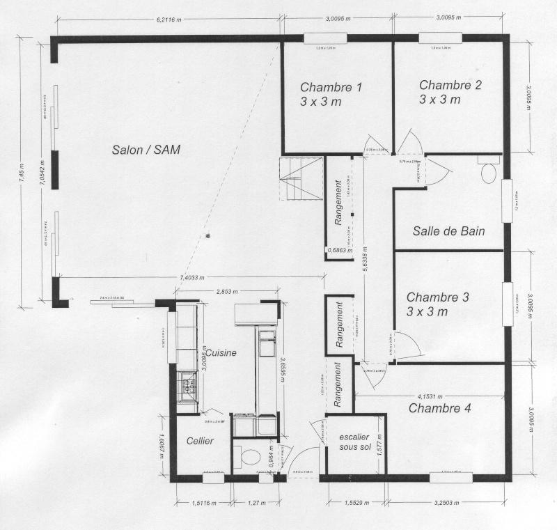 maison plain pied sans couloir