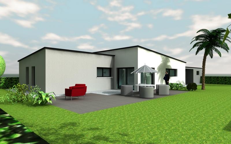 maison plain pied toit plat