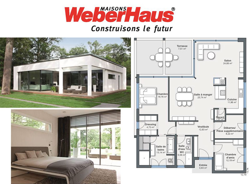 maison plain pied weberhaus